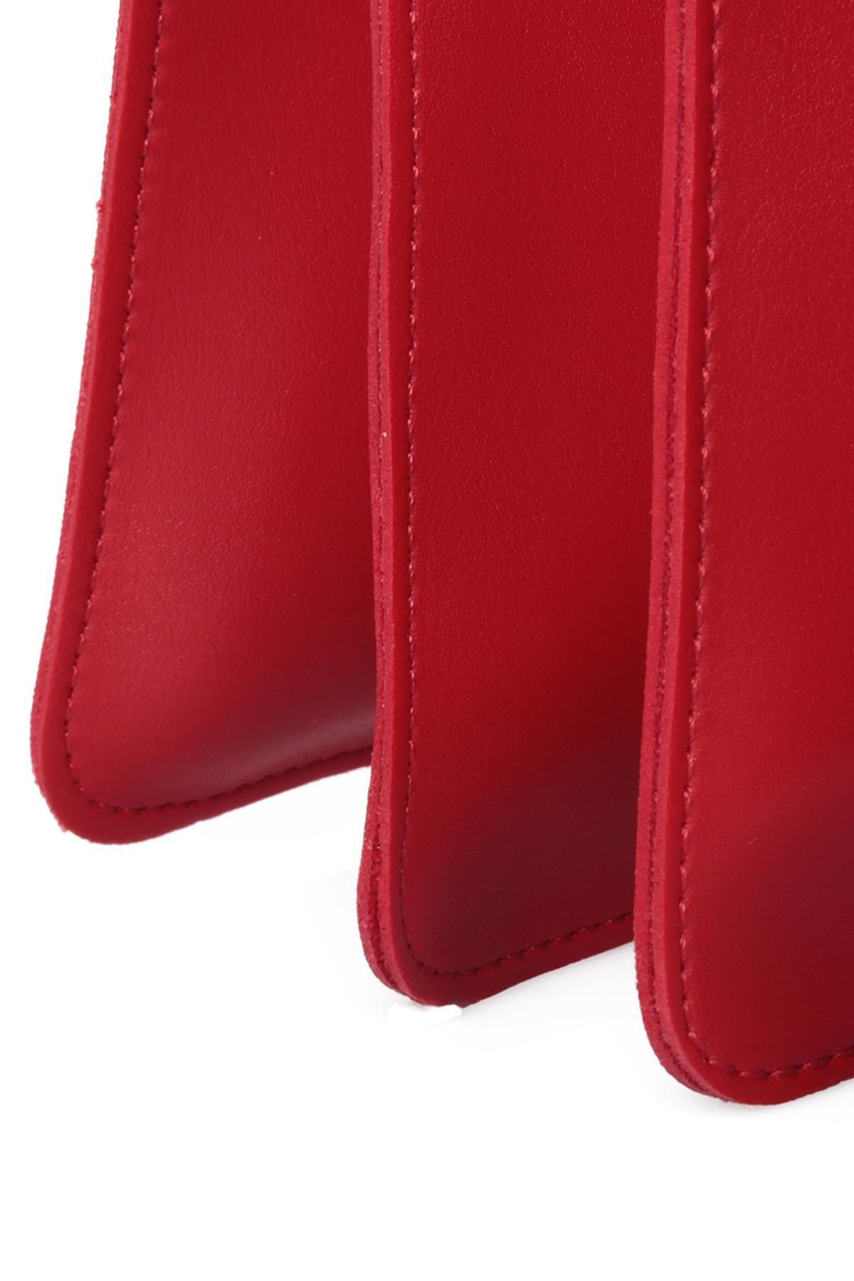 Beverly Hills Polo Club Kadın Püsküllü El ve Omuz Çantası Kırmızı 4