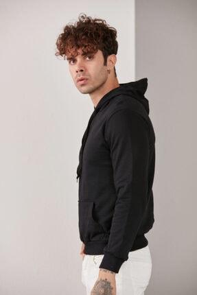 CATSPY Erkek Siyah Kapüşonlu Sweatshirt 3