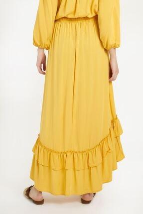 Batik Kadın Sarı Düz Etek Y10659 2
