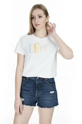 Levi's Kadın Beyaz The Perfect 90'S Serif T-Shirt 17369-0969 0