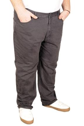 تصویر از Büyük Beden Erkek Keten Pantolon 5 Cep 21003 Antrasit