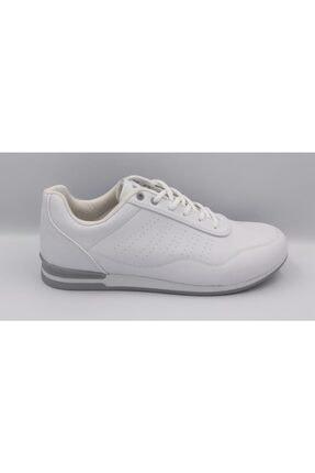Erkek Beyaz Spor Casual Beyaz Bağcıklı Ayakkabı BEYAZ