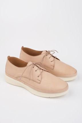 Marjin Kadın Bej Hakiki Deri Comfort Ayakkabı Porvez 1