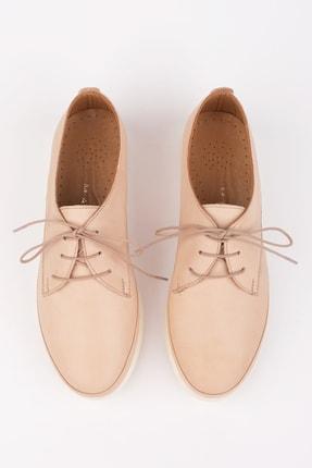 Marjin Kadın Bej Hakiki Deri Comfort Ayakkabı Porvez 2