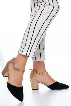 PUNTO Kadın Zincir Detaylı Topuklu Ayakkabı 0