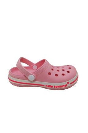 Akınalbella Kız Çocuk Şeker Pembesi Crocs Terlik 0