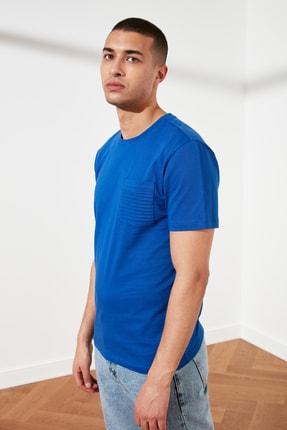 TRENDYOL MAN Saks Erkek Slim Fit Bisiklet Yaka T-Shirt TMNSS21TS0443 1