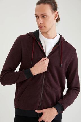 Defacto Erkek Kapüşonlu Fermuarlı Sweatshirt 4