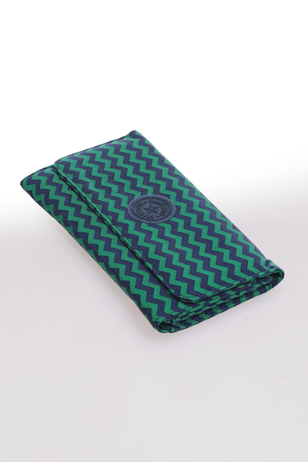 Smb1225-0066 Lacivert/yeşil Kadın Cüzdan