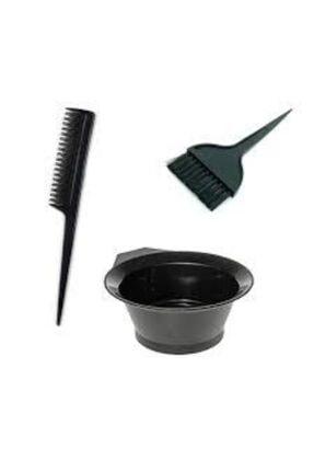 Nergizium Saç Boya Fırçası + Krepe Tarağı + Boya Kabı Saç Boyama Seti Boyamak Aparat Ekipman 1