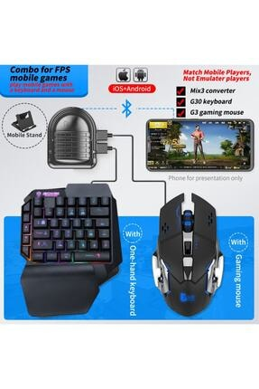 Enyatec Mıx 3 - Pubg Oyun Konsolu Klavye Mouse Bağlayıcı 3in1 - Mousepad Hediyeli 1