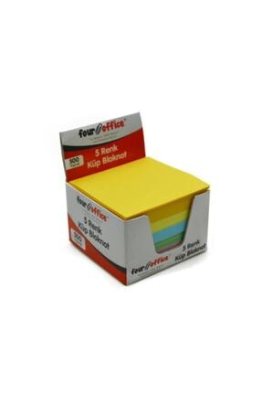 Dortel Four Office 5 Renk Renkli Küp Blok Kx- 500 Yaprak Kaliteli 0