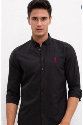 US Polo Assn Erkek Siyah Gömlek 0