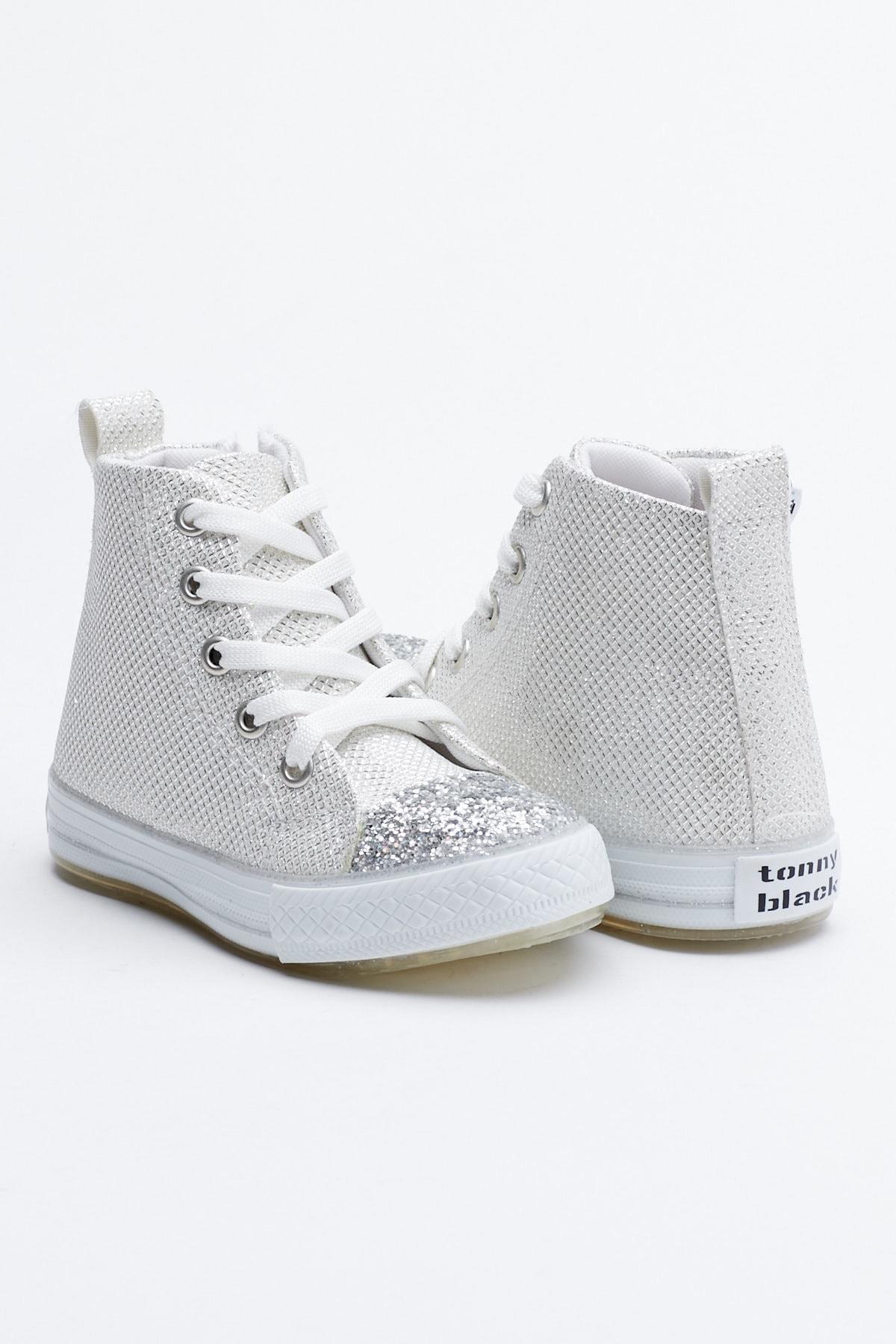 Tonny Black Buz Çocuk Spor Ayakkabı Uzun Tb999 1