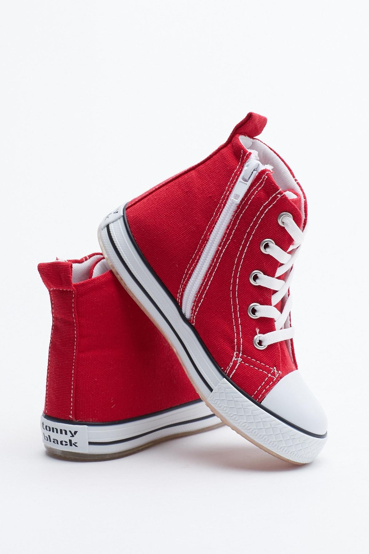 Tonny Black Kırmızı Çocuk Spor Ayakkabı Uzun Tb999 3