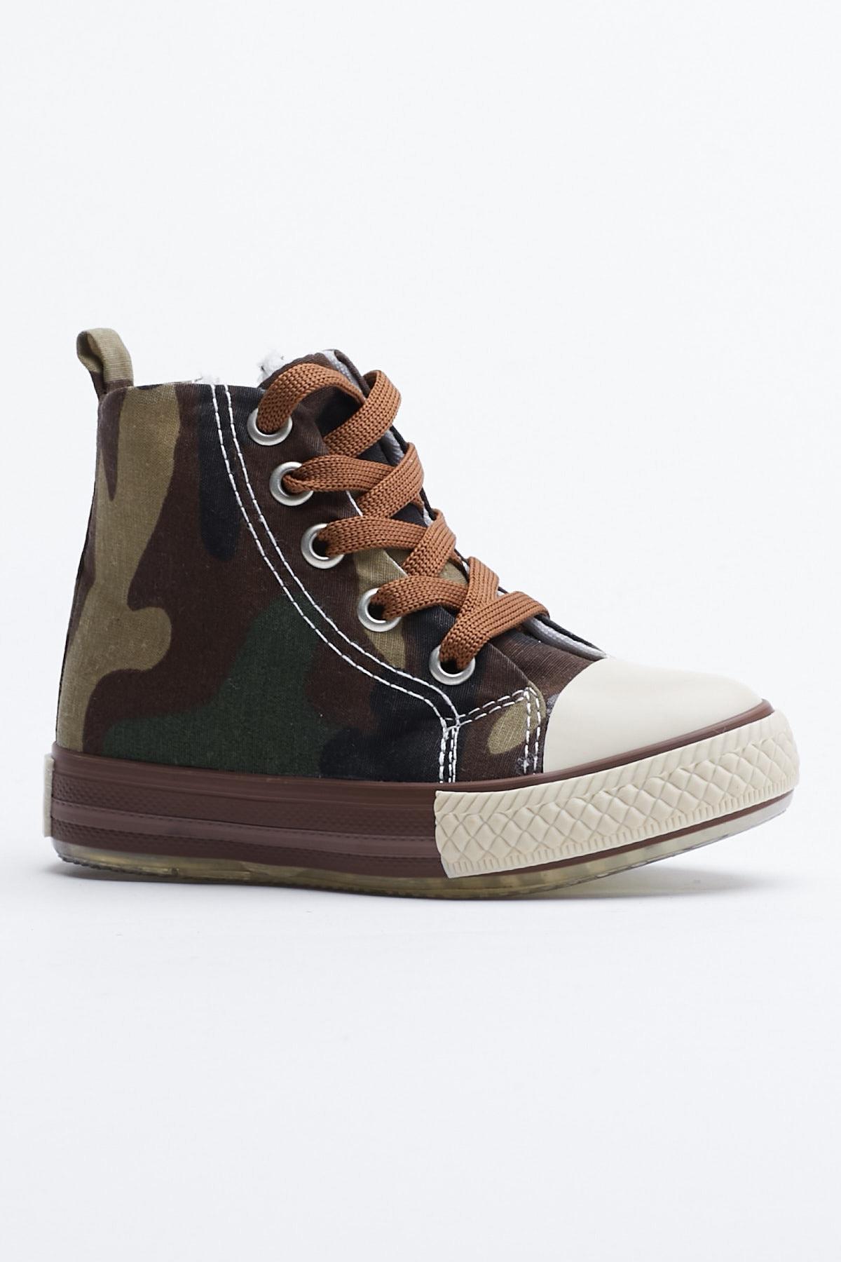 Tonny Black Haki Kamuflaj Çocuk Spor Ayakkabı Uzun Tb999 0