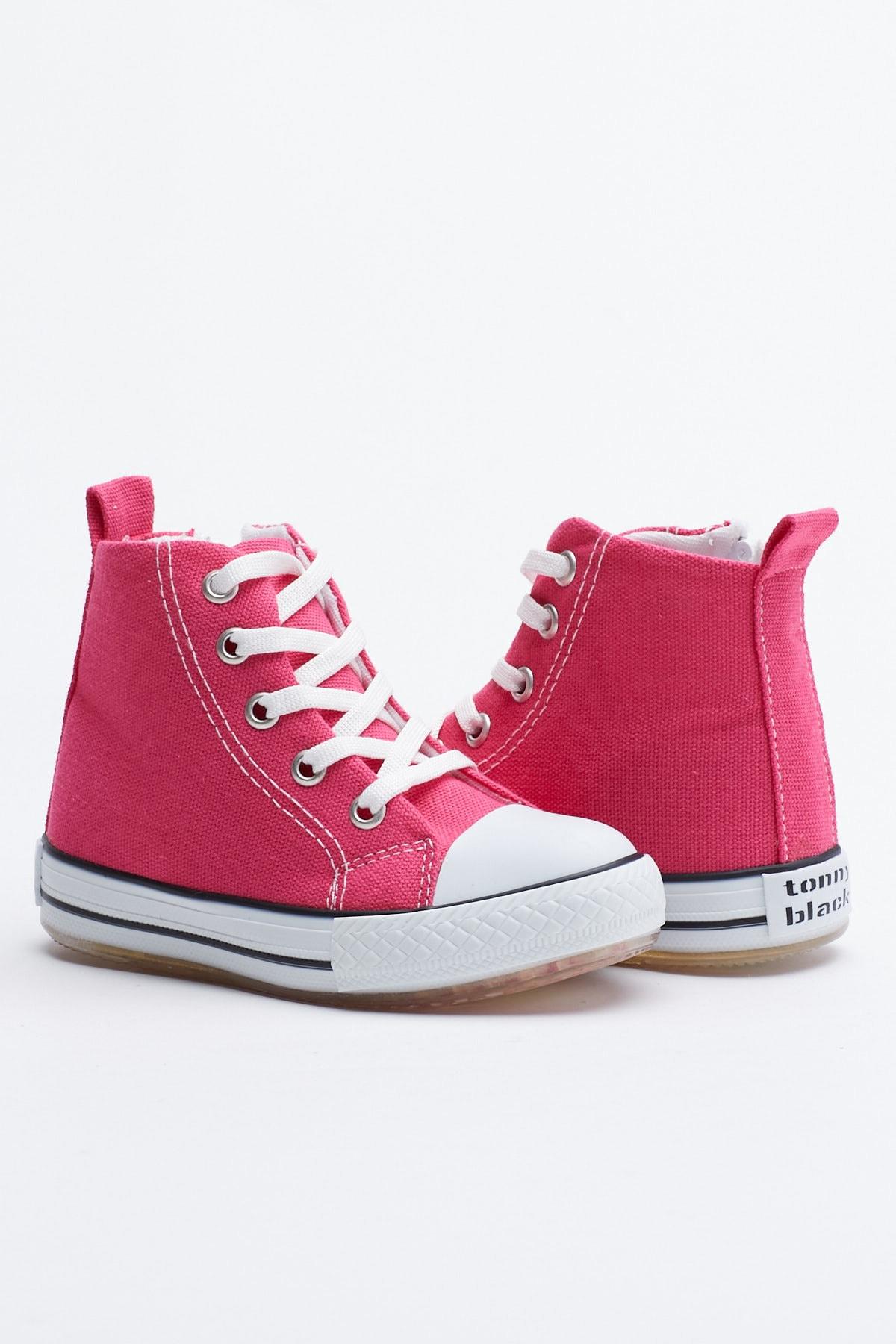 Tonny Black Fuşya Çocuk Spor Ayakkabı Uzun Tb999 1