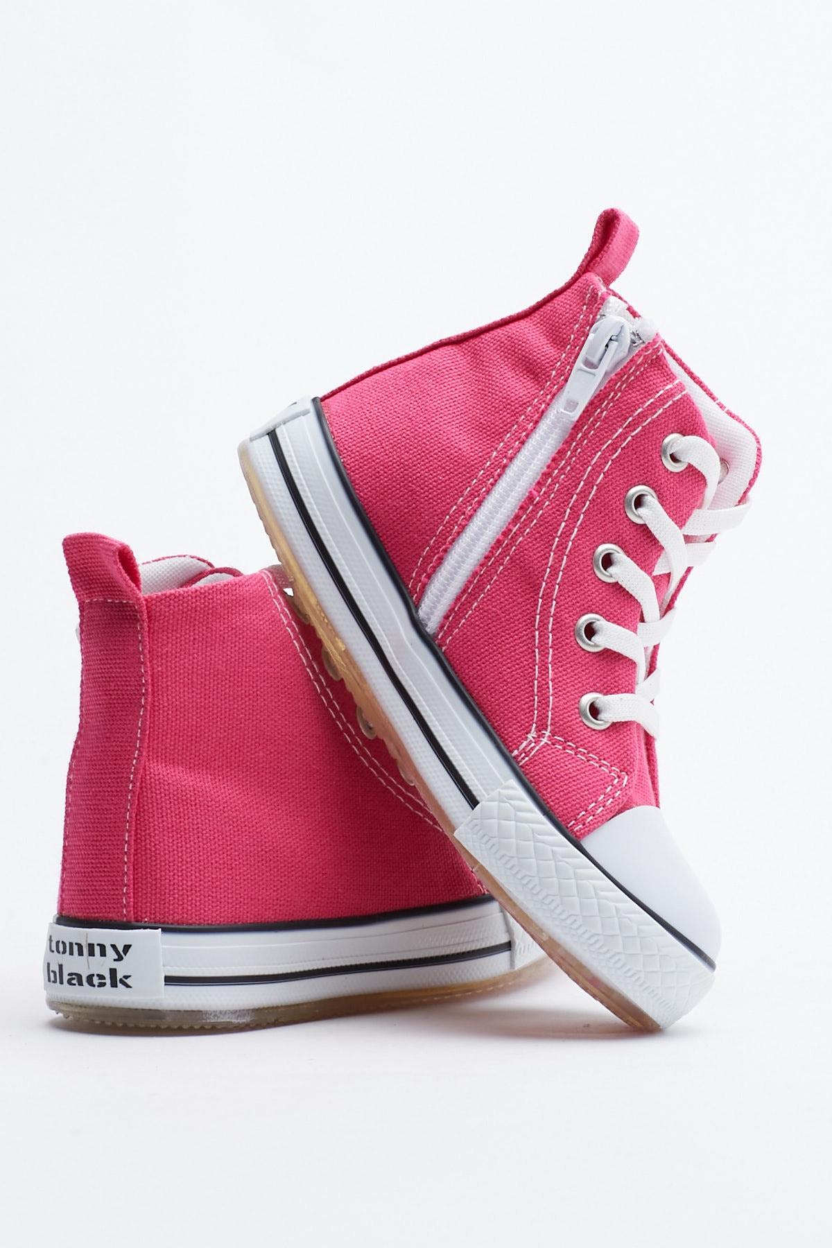 Tonny Black Fuşya Çocuk Spor Ayakkabı Uzun Tb999 3