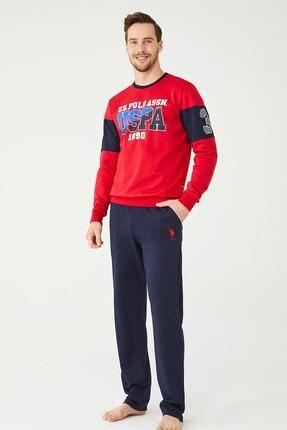 US Polo Assn Erkek Kırmızı Ev Giyim 0