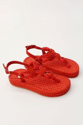 Marjin Casmina Kadın Parmak Arası Sandaletkırmızı 3