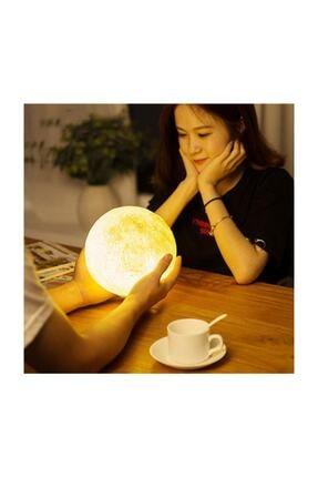 Zzn 3d Ay Işığı Gece Lambası Dokunmatik Moon Led Masa Üstü Aydınlatma 4