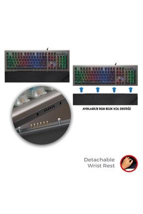 Rampage Kb-r101 Impressıve Full Rgb Kristal Switch Mekanik Gaming Oyuncu Klavyesi Tr 3