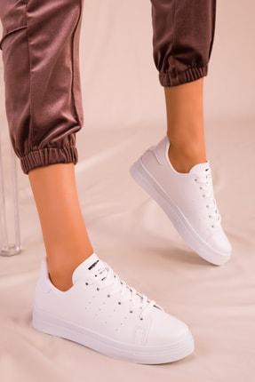 Soho Exclusive Beyaz Kadın Sneaker 14739 1
