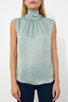 TRENDYOLMİLLA Mint Yaka Detaylı Bluz TWOSS20BZ0490 2