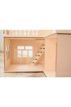 tsddekorasyon Tsd Dekorasyon 3 Katlı L Barbie Evi Eşyalı Merdivenli 1