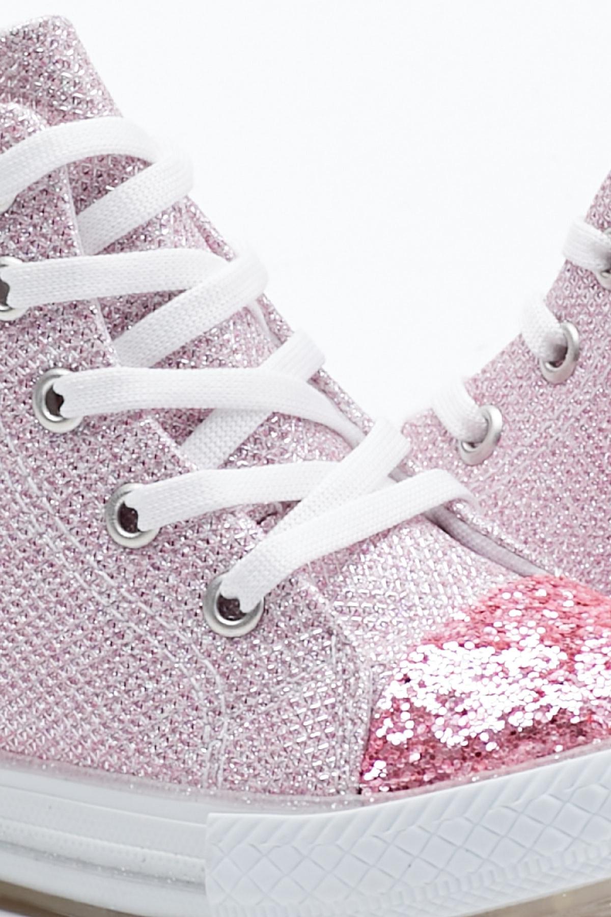 Tonny Black Pembe Çocuk Spor Ayakkabı Uzun Tb999 1