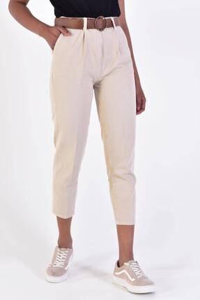 Addax Kadın Taş Kemerli Pantolon Pn4204 - B6A6Z2 Adx-0000020952 0