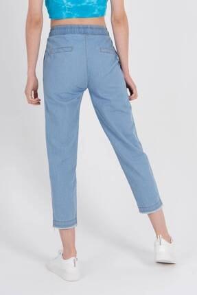 Addax Kadın Açık Kot Rengi Önden Bağlamalı Pantolon Pn4317 - Pnl ADX-0000022956 4