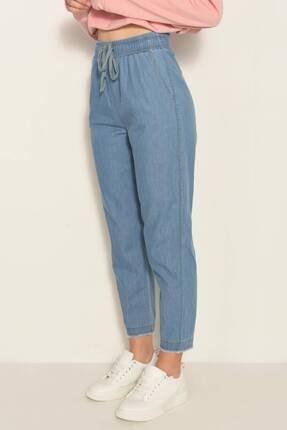Addax Kadın Kot Rengi Önden Bağlamalı Pantolon Pn4317 - Pnl ADX-0000022956 3