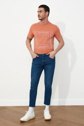 Picture of Açık Lacivert Erkek Skinny Crop Jeans TMNSS21JE0060
