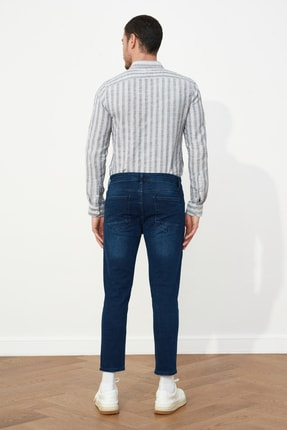 TRENDYOL MAN Lacivert Erkek Skinny Crop  Jeans TMNSS21JE0060 4