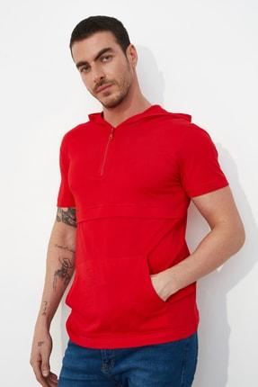 TRENDYOL MAN Kırmızı Erkek Regular Fit T-Shirt TMNSS20TS1360 0