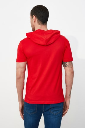 TRENDYOL MAN Kırmızı Erkek Regular Fit T-Shirt TMNSS20TS1360 3
