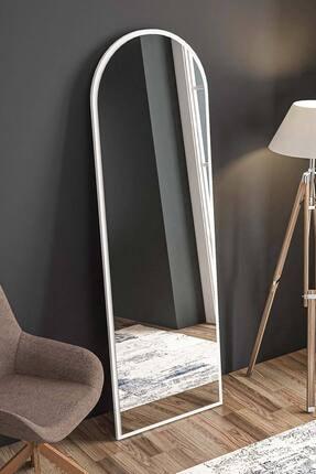 bluecape Beyaz Salon Ofis Mutfak Çocuk Yemek Odası Duvar Konsol Boy Aynası 180cm 2