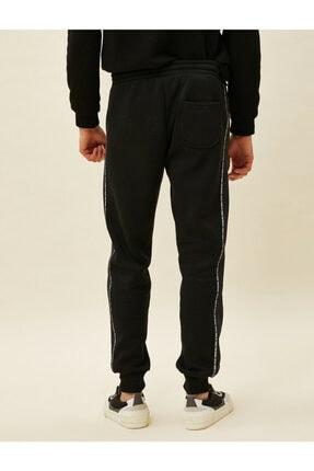 Koton Erkek Siyah Şeritli Cepli Beli Bağlamalı Jogger Eşofman Altı 3