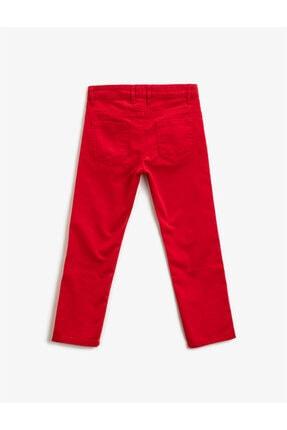 Koton Erkek Çocuk Kırmızı Pamuklu Chino Pantolon 1