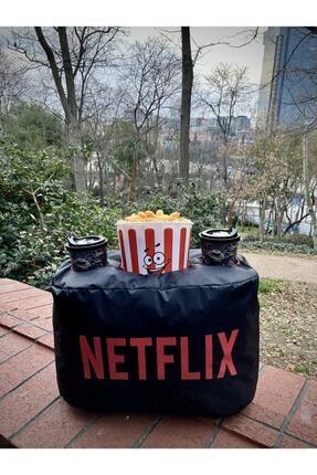 ustuneyok Netflix Popcorn Yastık Evinizde Sinema Keyfi 1