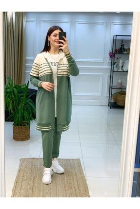 Camelya Fashion Çizgili 3lü Eşofman Takımı 0