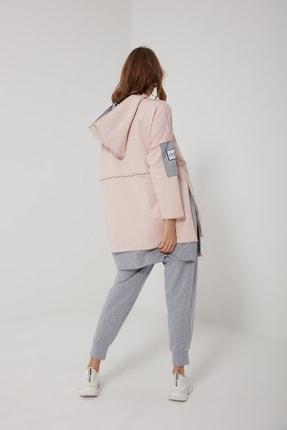 oia W-0900 Pudra Gri Pamuklu Tunik Pantolon Takım Eşofman Takım 2