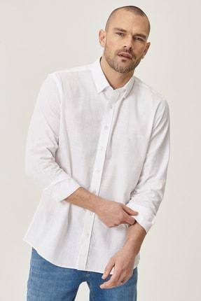 Altınyıldız Classics 2 Al Sepette Ek %20 İndirim Beyaz Tailored Slim Fit Dar Kesim Düğmeli Yaka %100 Koton Gömlek 1