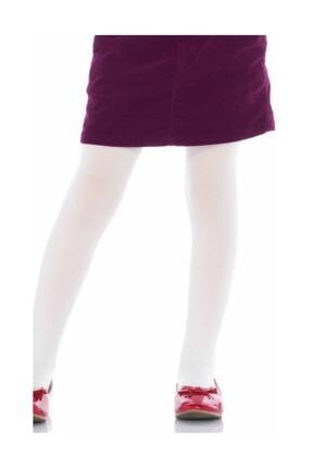 Penti Kız Çocuk Pamuk Külotlu Çorap Beyaz 0