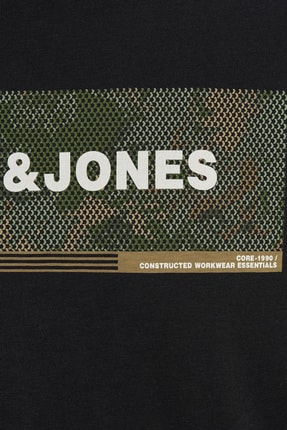 Jack & Jones JCOCAMPA TEE SS FST Siyah Erkek T-Shirt 101069364 1