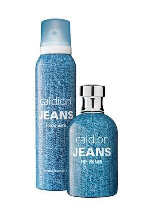 Caldion Jeans Edt 100 ml Kadın Parfüm + 150 ml Kadın Deodorant Sprey Set 0