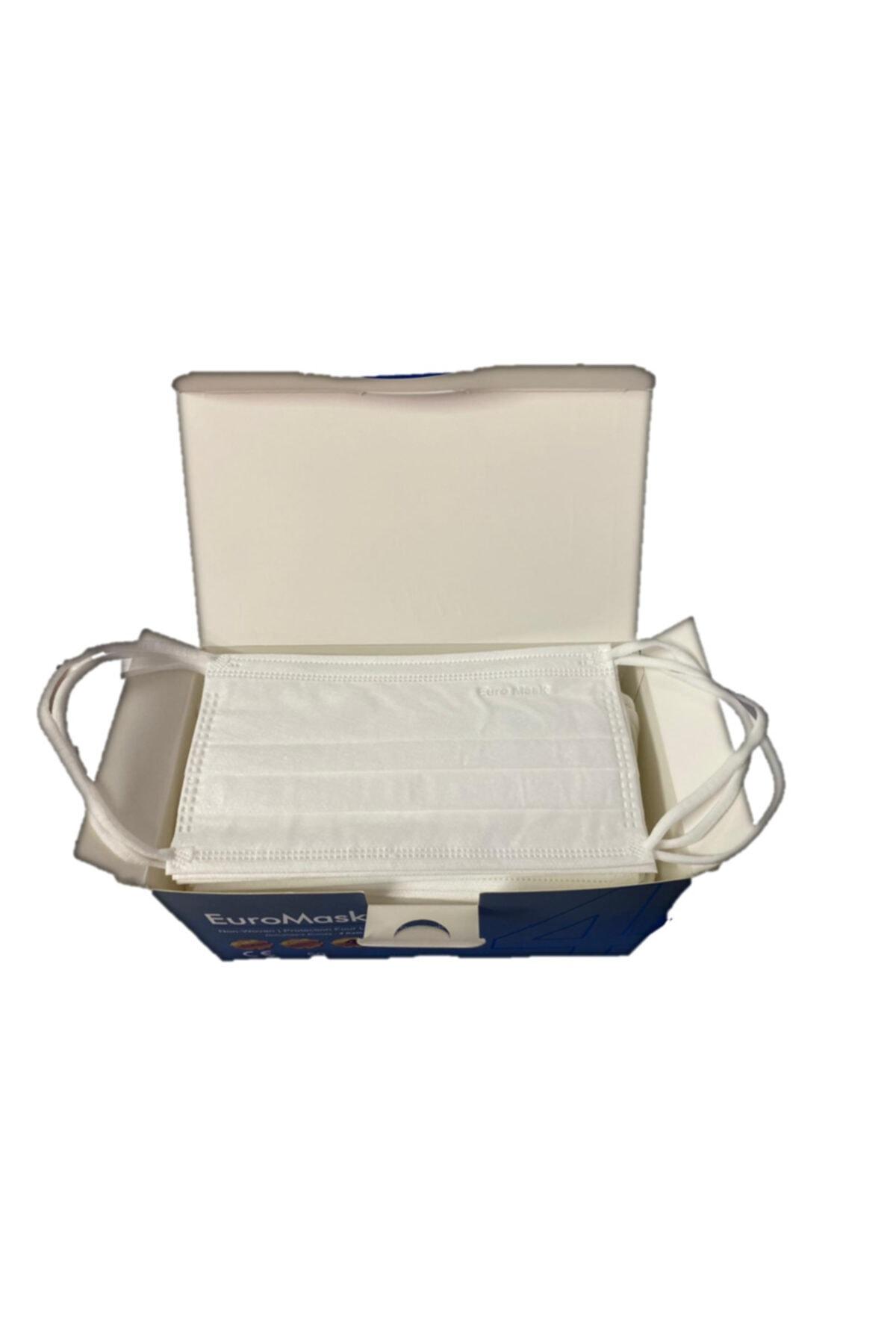 Perimel Euromask Gold 4 Katlı Maske Beyaz + Derdevice Pp Mendil