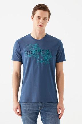 Mavi Erkek Respect Baskılı Mavi Tişört 066592-33419 2