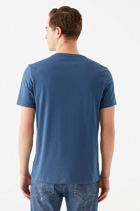 Mavi Erkek Respect Baskılı Mavi Tişört 066592-33419 3